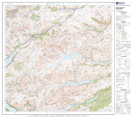 OS Landranger 025 - Glen Carron & Glen Affric - FLAT Rolled in a Tube